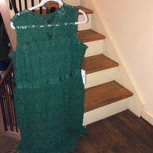 Draper James ❤️Eloquii new green lace dress
